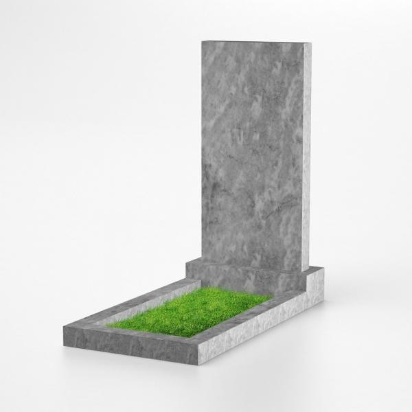 Памятник прямоугольный из мрамора 80х45х7
